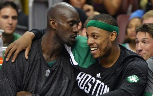 KG and Pierce, best friends longer than most of us thought...Didn't know they knew each other since high school #Celtics