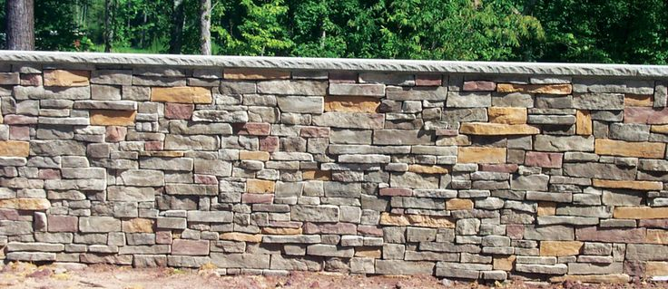 Natural Stone Wall Caps : Stone retaining walls synthetic wall