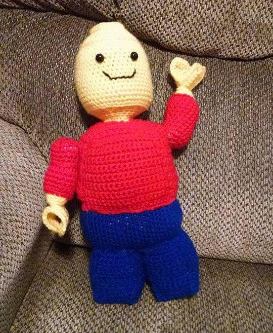 Amigurumi Lego Man : Lego Man! Stuffed crocheted amigurumi toy Amigurumi ...
