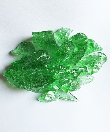 Loving this 10-Lbs. Crystal Green Large Fire Pit Fire Glass on #zulily! #zulilyfinds