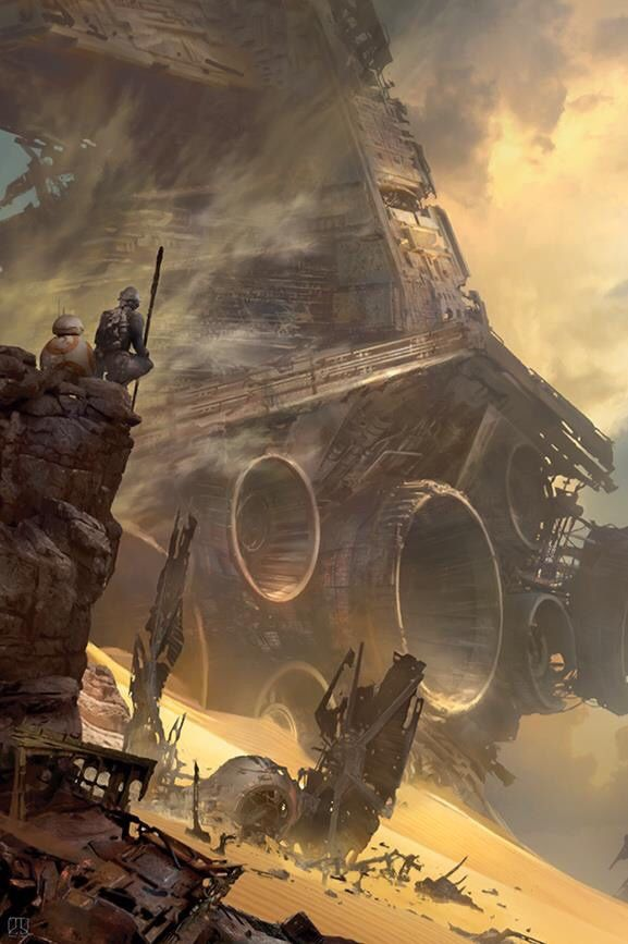 Star Wars: The Force Awakens TIE Fighter Down by Stephan Martiniere.