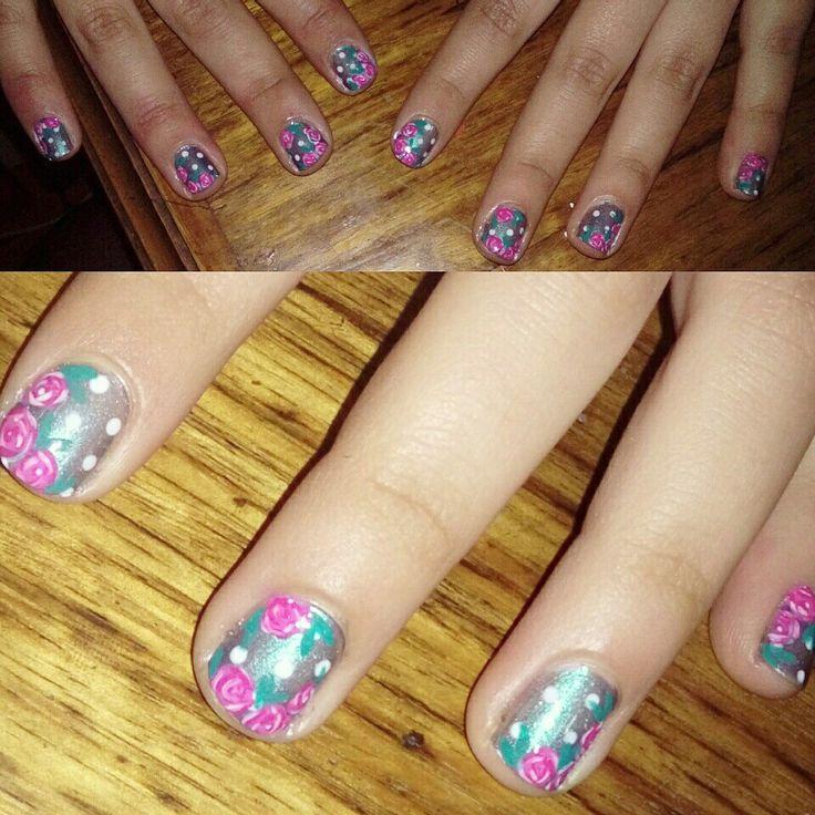 #roses #flores #flowers #nails #uñas #nailart
