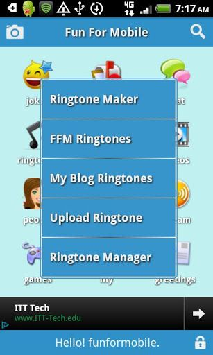 Make friends; Chat, Talk, Play; Download wallpaper, ringtone, video made by other members. Share jokes, photos, videos, and ringtones; Have fun at fun for mobile.<p>FFM new features<p>Home <p>• Make custom ringtones from the music folder on your phone, or your voice recording<br>•  Send greeting cards<br>• Play gif animations on your phone<br>• Play and download large selection of gif animations at FFM<br>• Large ringtone, wallpaper, video libraries.<br>• Color customization menu…