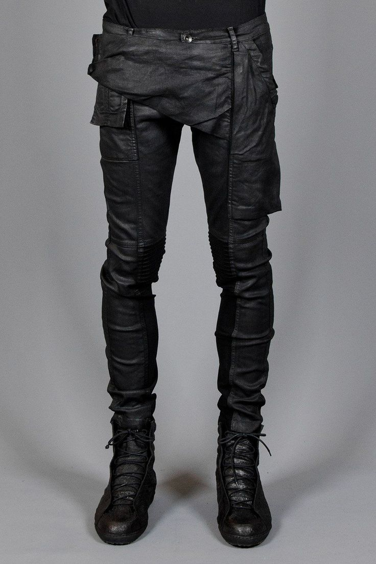#Memphis trousers Rick Owens DRKSHDW Layers London Very comfortable waxed cotton with ample pockets.