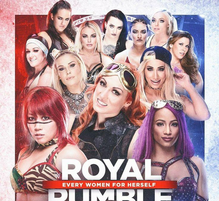 Royal Rumble Sarah Logan Bayley Natalya Asuka Becky Lynch Sasha Banks Carmella Mickie James Sonya DeVille Ruby Riot & Liv Morgan