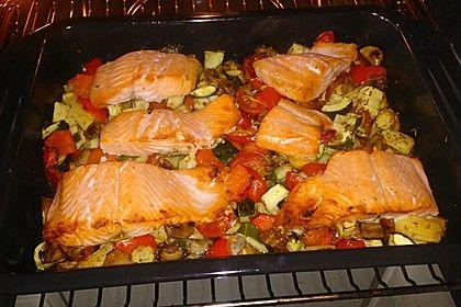 Low Carb Lachs mit Ofengemüse 6