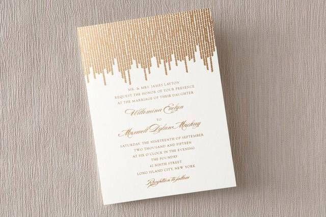 Inviti dorati Wedding Paper Divas