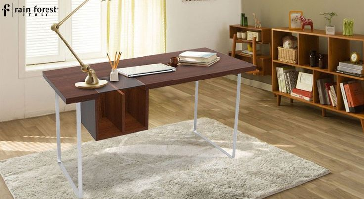 Make way for the steel study shelf into your study room, and do away with the monotony of a living room. Buy this solid wood study table online at Rainforest Italy. #rainforestitaly #furniture #homefurniture #wooden #lifestyle #decor #homedecor #interior #table #unusualdesigns #onlinebuy #sidetable #livingroomshine #studytable #study #studytableforchild
