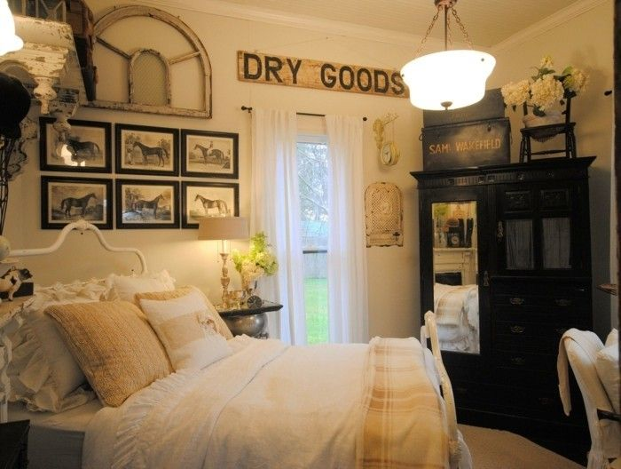 14 best chambre vintage images on Pinterest | Bedroom vintage ...