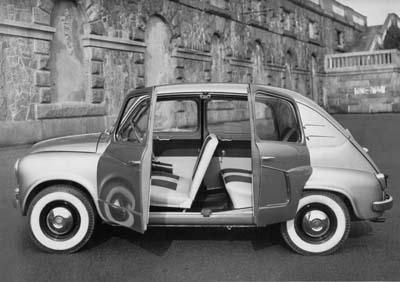 FIAT 600 LUCCIOLA From the 50s to the 70s Italian firm Carrozzeria Francis Lombardi made several exciting versions of basic Fiats like this gorgeous and rare 4 door 600 above