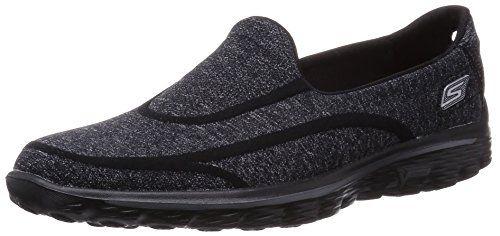 Skechers Go Walk 2 Super Sock, Women's Hi-Top Sneakers, Black