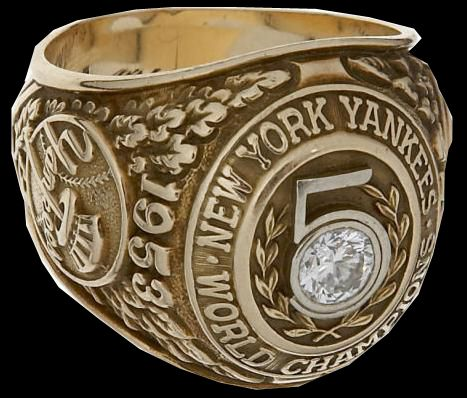 1953   The NY Yankees win their fifth consecutive World Series Ring.
