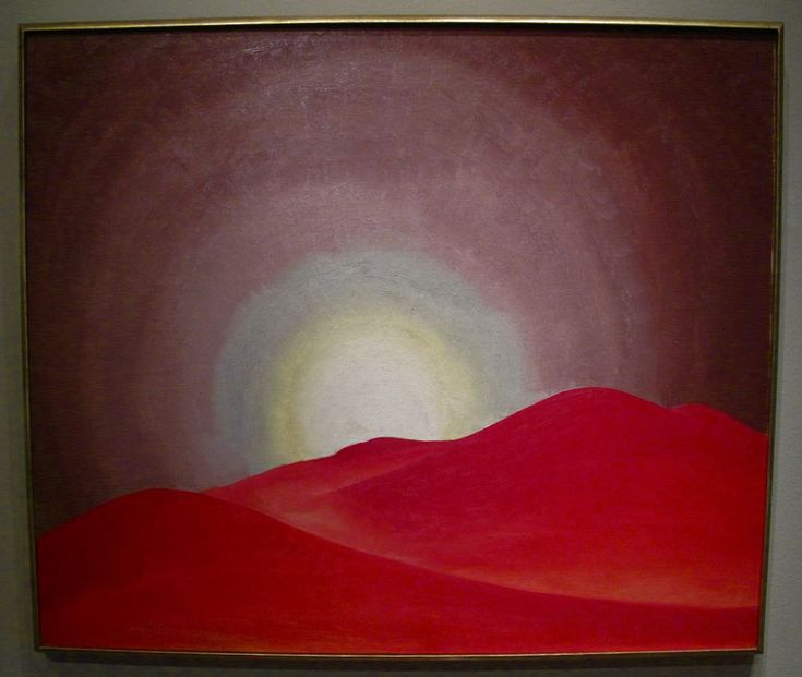 Georgia O'Keeffe. Red Hills, Lake George 1927
