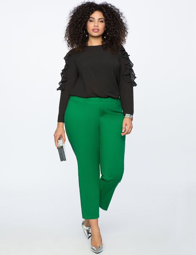 Kady Fit Double-Weave Pant | Women's Plus Size Pants