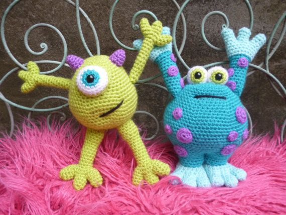 Scary Gary and Horrid Harry Amigurumi Monsters by mojimojidesign