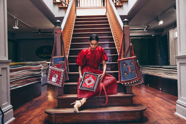 How to wear Red on Red Ethnic Fusion Ethnic Fusion Saree Fashion Vintage Chic 70's Kimono Streetwear Styling Photoshoot