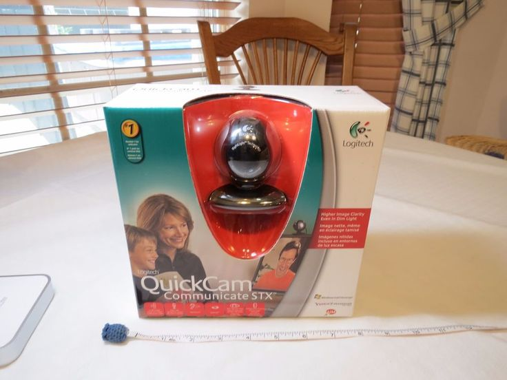 Logitech QuickCam (961464-0403) Web Cam NOS communicate STX camera CHAT PC mess #Logitech