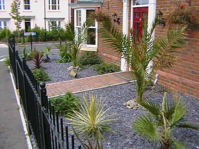 54 best front garden ideas images on pinterest masonry for Blue slate garden designs