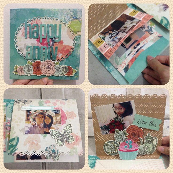 Anniversary gift ideas #handmadegift #scrapbook #greetingcards #papercraft #giftideas