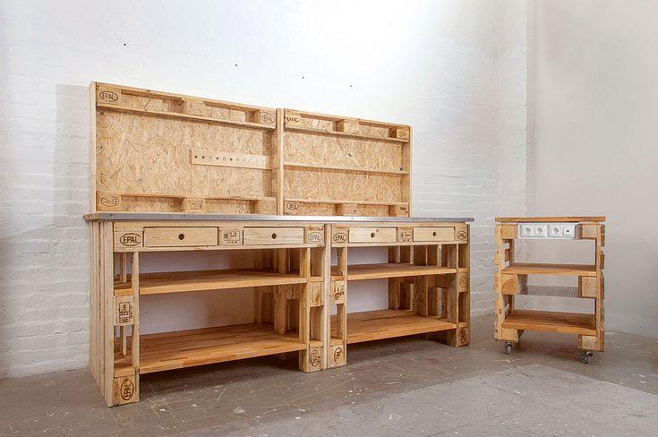 Werkstatt aus Euro-Paletten bauen: Günstig und ro…