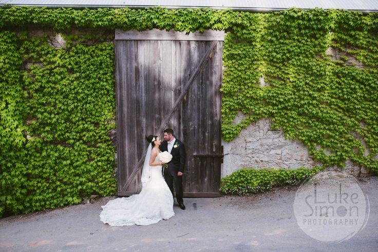 Wine Shed door - by Luke Simon Photography. #GlenEwinEstate #Weddings #bridal #adelaidehills #photos #Pulpshed