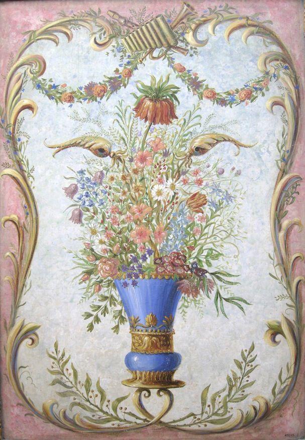 Blue vase panel