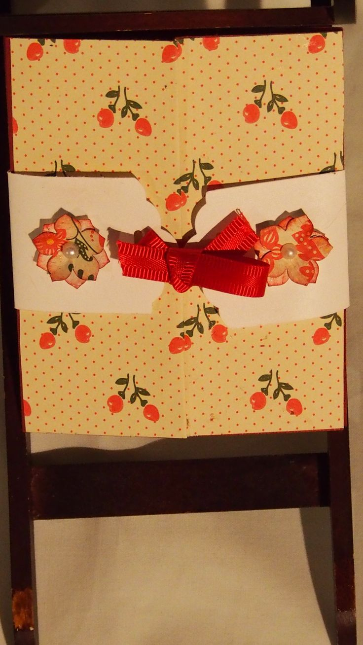 A small gate-fold thank-you card.