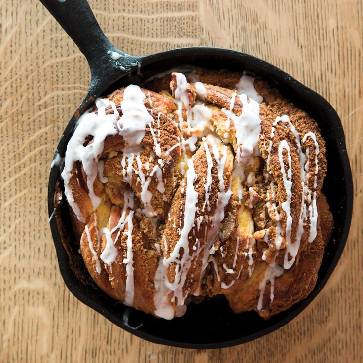 Drizzled with a Lemon-Vanilla #Glaze and twisted to perfection, @mandyinak's Cast-Iron Sweet Potato #Cardamom #Bread is the Hump Day treat you need. To get the #recipe and find out more on #Alaskan cuisine from Mandy Dixon herself, order our March/April 2018 Issue, available on newsstands now!