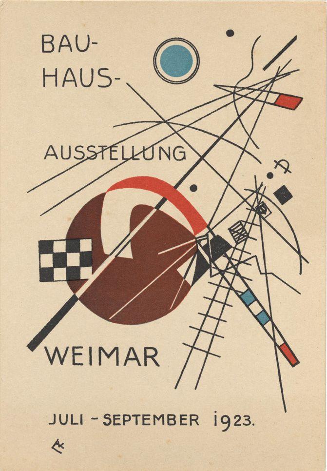 garadinervi:  Bauhaus postcards 1923 (pt.1)  Vasily Kandinsky. Bauhaus Ausstellung Weimar Juli–Sept, 1923, Karte 3. 1923.