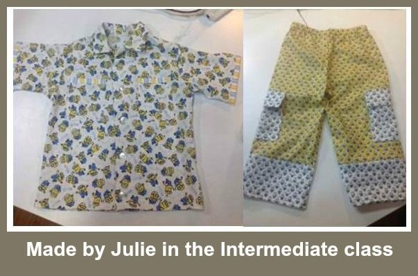 Julie chose Minions fabric for this out fit for her Nephew. http://www.sewnsew.net.au/want-to-learn-to-sew/