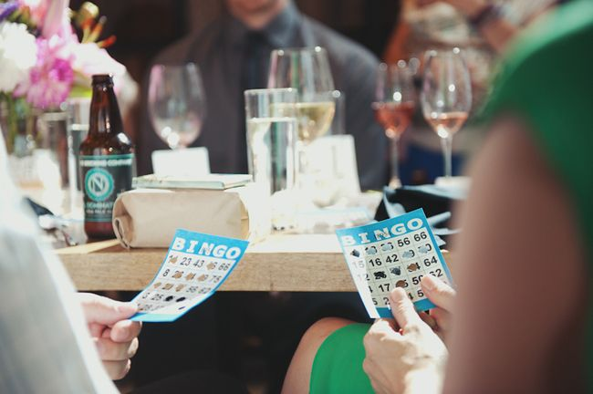 Such a cute idea to get everyone involved at the reception! Play BINGO!