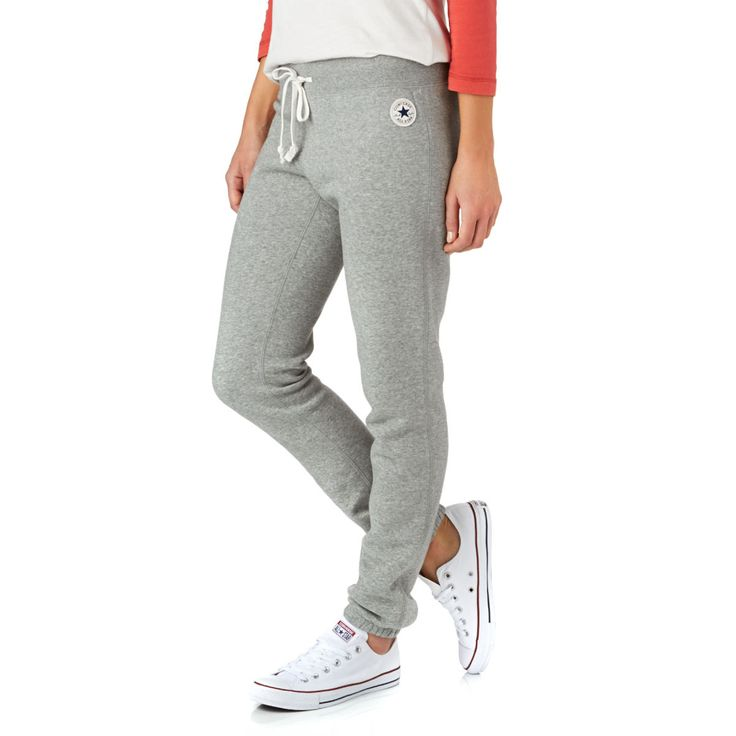 Converse Core Slim Fit Tracksuit Bottoms - Vintage Grey Heather