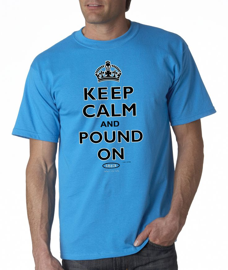Carolina Panthers Fans. Keep Calm And Pound On. T-Shirt