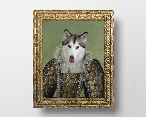 Custom Royal Pet Portrait From Your Photos  by dasfolDesign