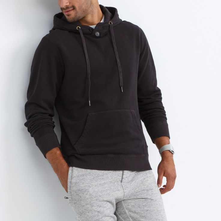 Pinery Henley Hoody | Roots Mens Hoodies - F/W 2015/2016, style 01100036, Coal Grey