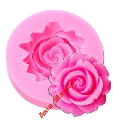 forma silikonowa do masy cukrowej 3D RÓŻA kwiat
