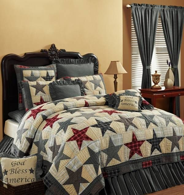 Country and Primitive Bedding, Quilts - America Bedding by Victorian Heart - Country Decor, Primitive Decor, Bedding, Braided Rugs