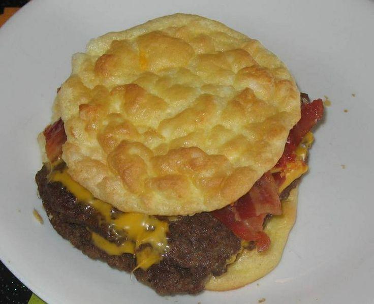 Oopsie rolls. Gotta try soon! Recipe at yourlighterside.com/2009/05/gluten-free-low-carb-buns-aka-oopsie-rolls/