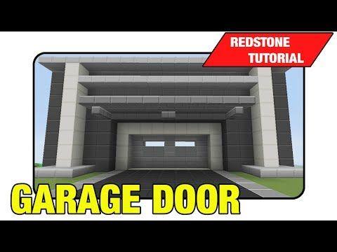 """Garage Door [3 High Expandable Door] """"Tutorial"""" (Minecraft Xbox/Ps3 TU16) - YouTube"""
