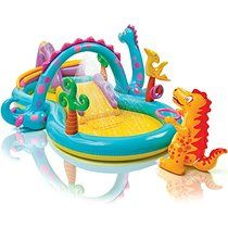 """Intex Dinoland Inflatable Play Center, 131"""" X 90"""" X 44"""", for Ages 3+"""