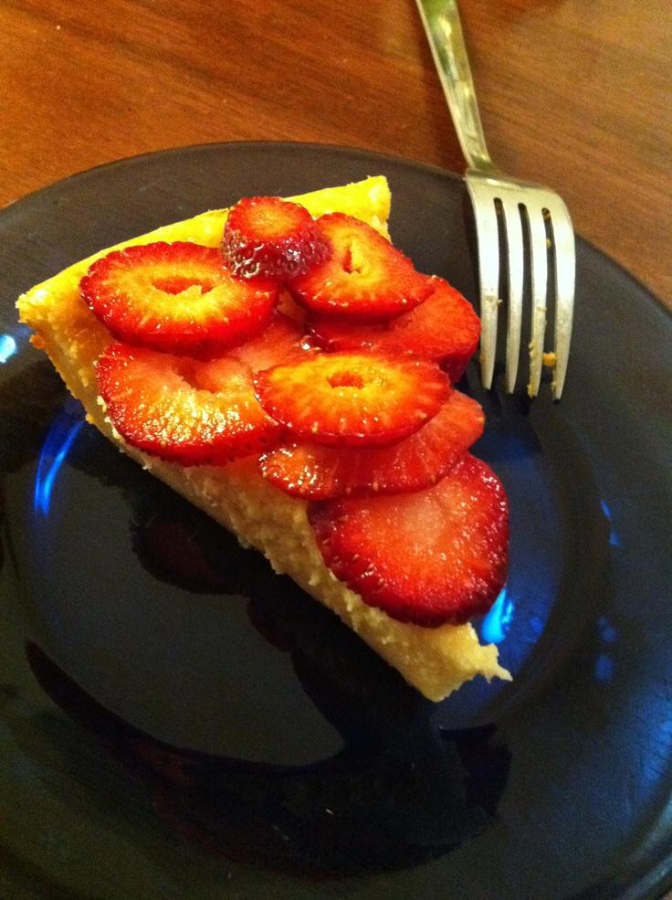 No crust strawberry cheesecake