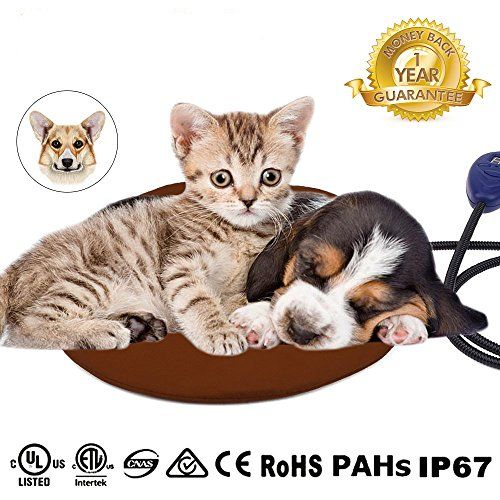 Pet Heating Pad, NuoYo Warming Pet Heat Mat for Dogs & Cats with Chew Resistant Cord Soft Removable Waterproof Electric Cover Low Voltage 7 temperature levels 【7 levels to adjust the temperature (22 to 55degree)】 7 temperature levels to adjust(25~55 degree) and visible LED display on control box shows temperatures of the heating pads accurately, and we recommend the best temperature 44 degree, which is the best healthy and confortable favorate temperature 36-43 degrees fo