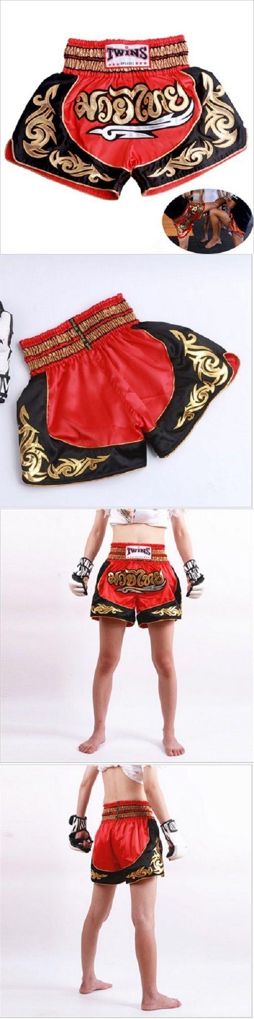 Pants 179772: Mma Shorts Pantalonetas Muay Thai Kick Boxing Fight Gym Fitness Shorts Pants Red -> BUY IT NOW ONLY: $38.63 on eBay!