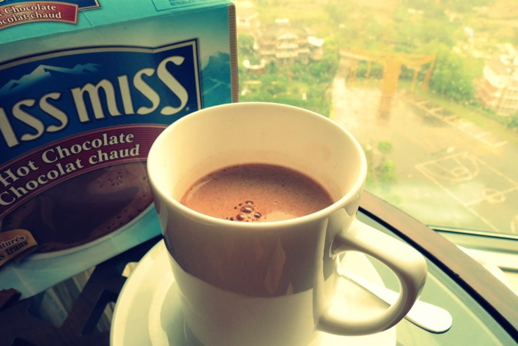 Hot Chocolate in a rainy day