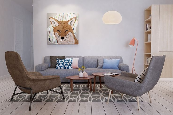 Interior DI by Int2architecture | Home Adore OMG! Too cute for words!! I love the pattern and color mixes and of course, the fox portrait. The blond cases are fab!
