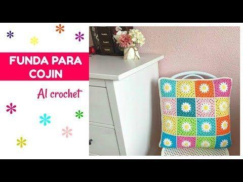 Cómo hacer la parte de atrás de tu cojin al crochet - La Magia del Crochet - YouTube