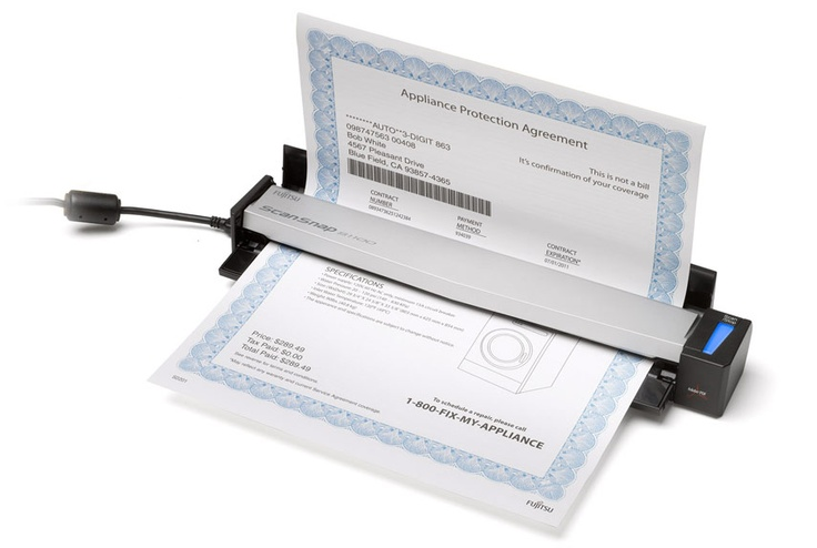 Fujitsu ScanSnap S1100: This tiny scanner scans documents directly to Google Docs and Evernote. $200 #Scanner #Fujitsu #Popular_Mechanics