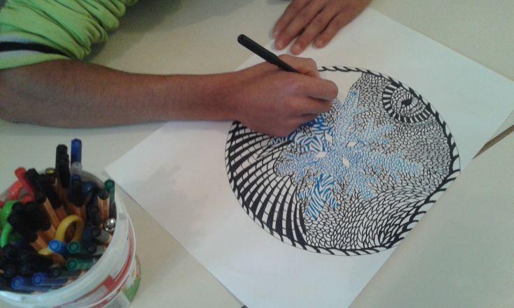 Gyógypedagógiai intézmény szakiskolás tanulójának rajza-special education