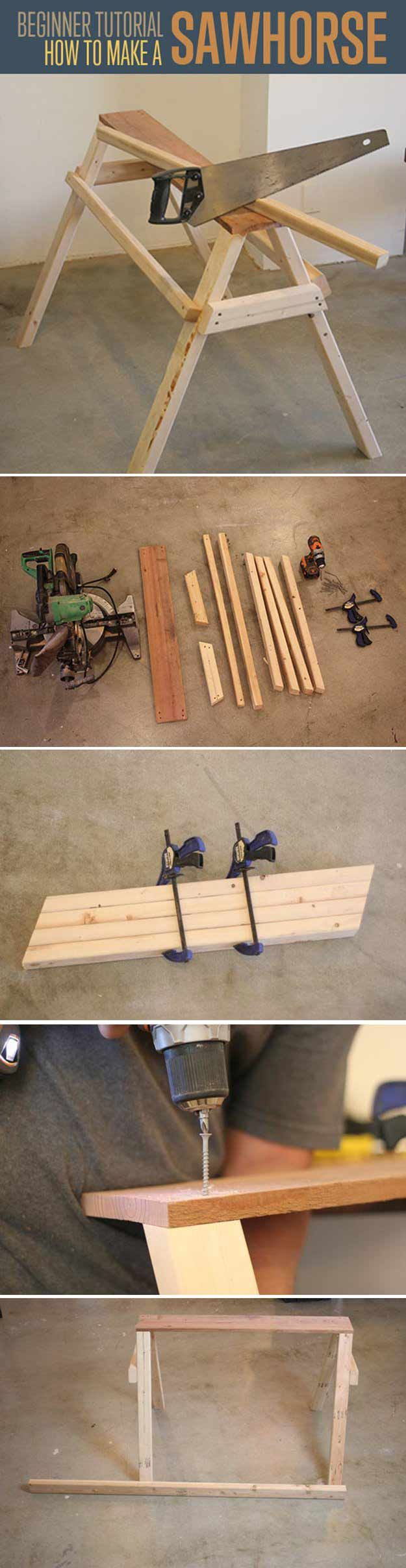 DIY Sawhorse | Easy Woodworking Projects