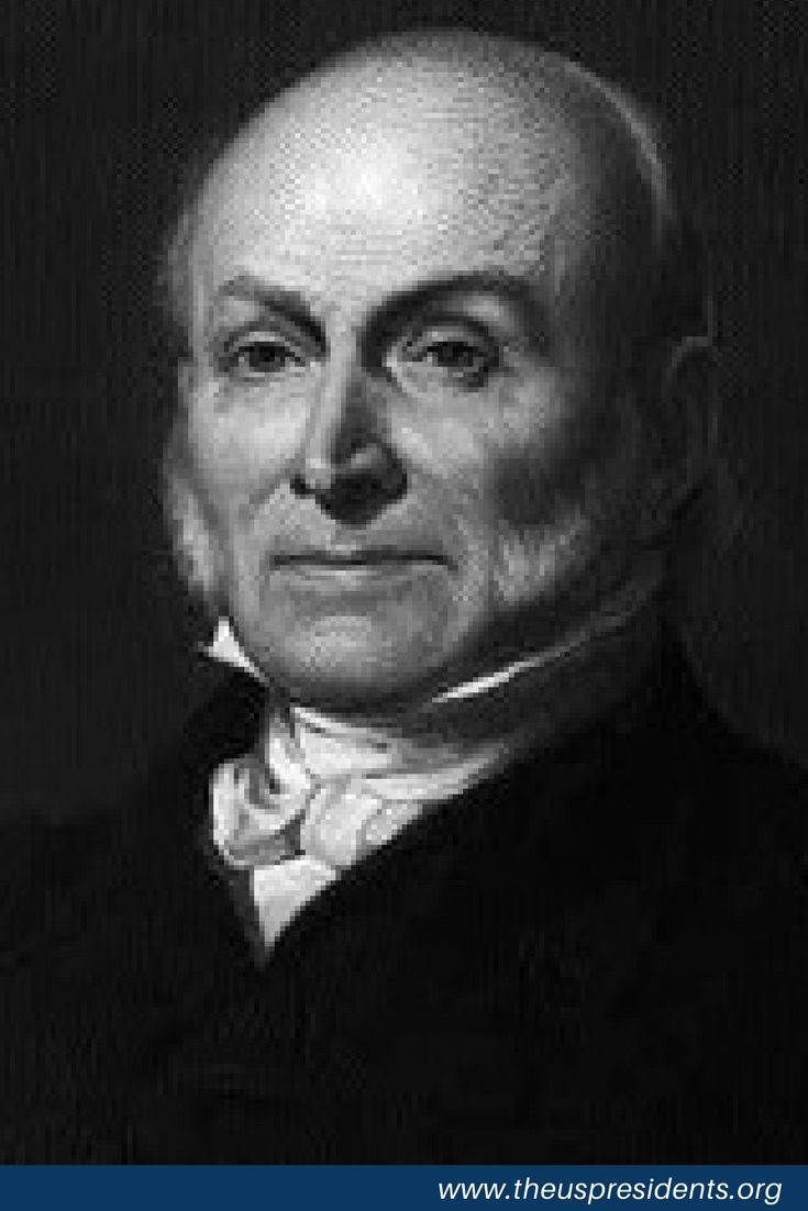 Where did John Quincy Adams Die? John Quincy Adams, a member of the Democratic-Republican Party, took office as the 6th President of the United States on March 4, 1825 at age 57. Adams served in office for 4 years and left when he lost reelection. He was born in Braintree, MA and received an education from Harvard University and Leiden University.